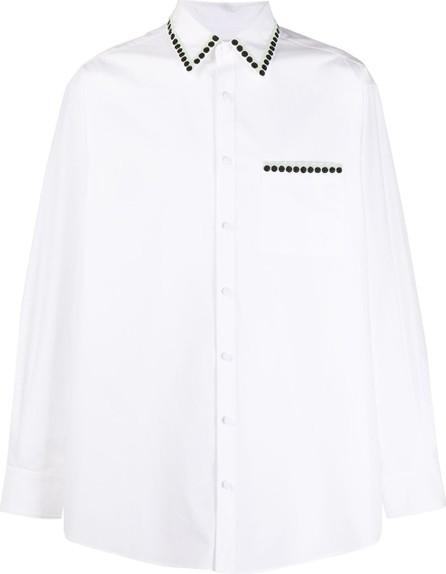 Valentino Embroidered detailing oversized shirt