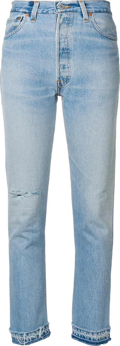 RE/DONE - High rise cropped jeans
