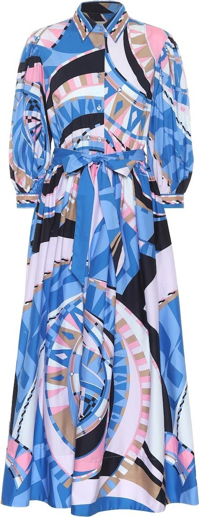 Emilio Pucci Printed cotton maxi dress