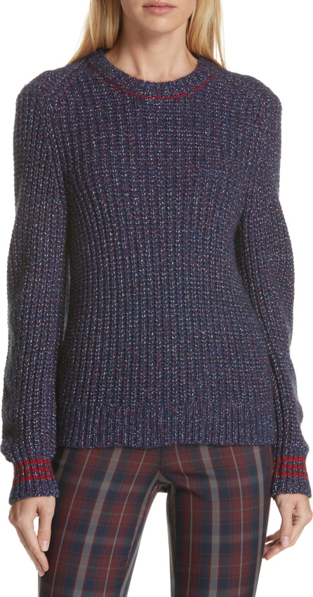 Rag & Bone Cheryl Stripe Cuff Wool Blend Sweater