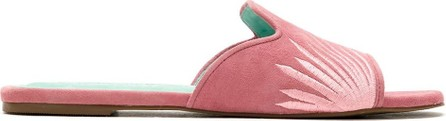 Blue Bird Shoes Palmeira embroidered slides