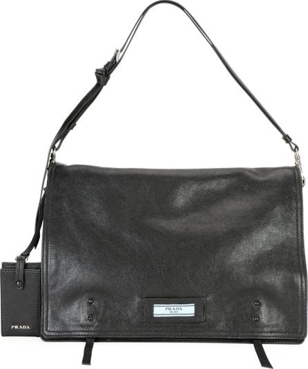 Prada Etiquette Large Glace Calf Leather Shoulder Bag