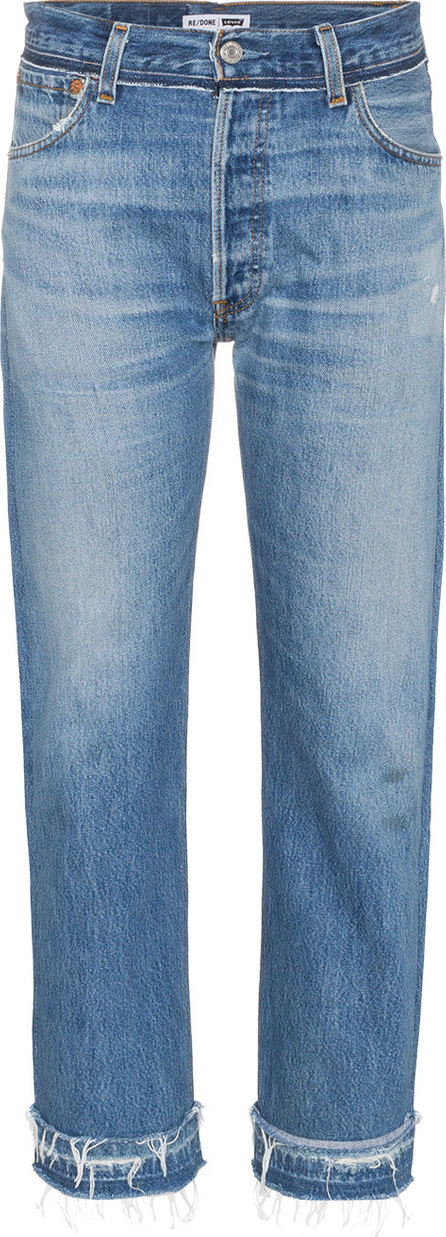 RE/DONE Stove Pipe Released Hem high waist straight leg jeans
