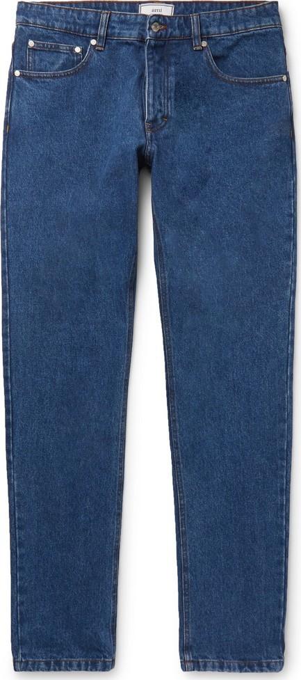 AMI Slim-Fit Washed Denim Jeans