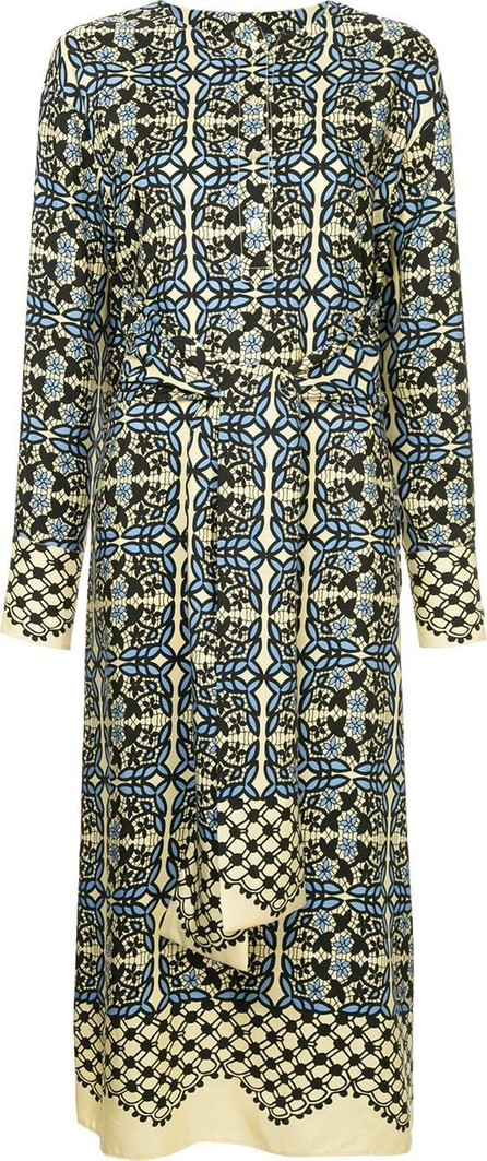 GOEN.J Lace print shirt dress