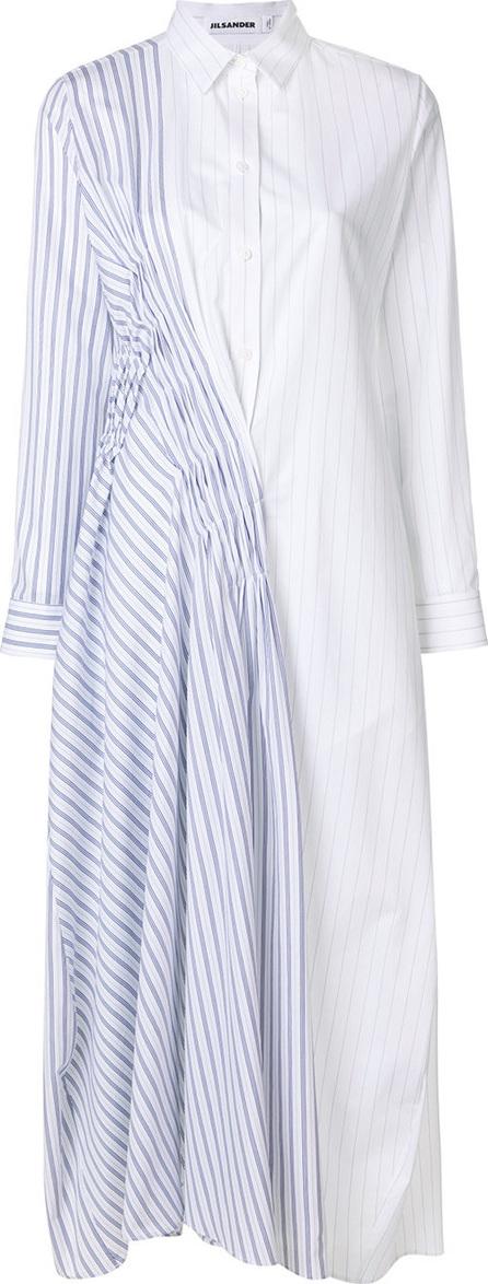 Jil Sander Asymmetric stripe shirt dress