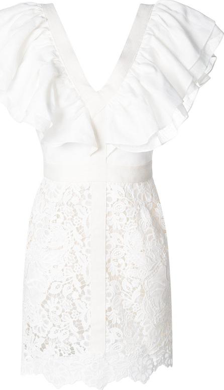 Fausto Puglisi Ruffled lace mini dress