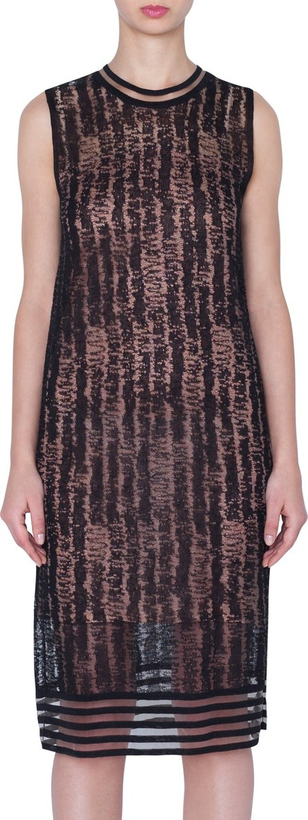 Akris Scribble Jacquard Linen Blend Dress