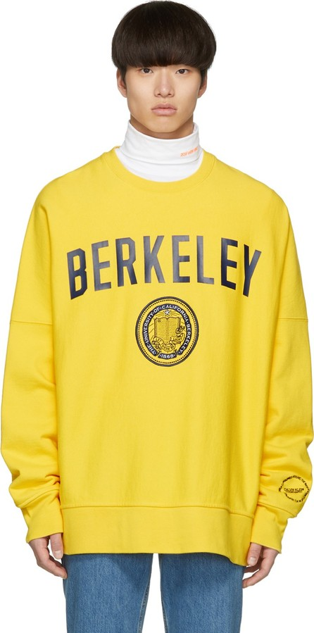 Calvin Klein 205W39NYC Yellow Berkeley Edition University Sweatshirt