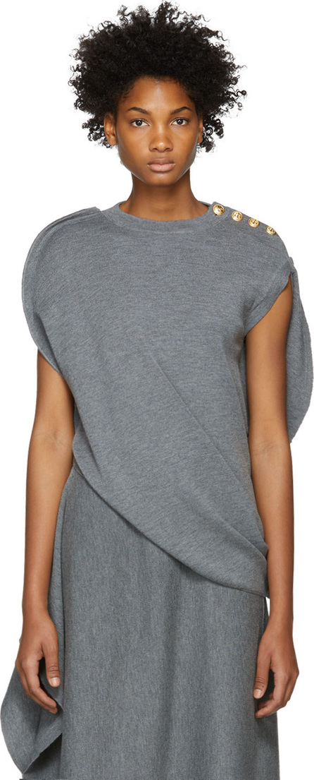J.W.Anderson Grey Circle Knit Top