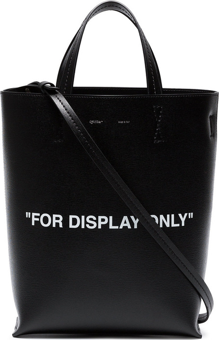 Off White Black 'For Display Only' leather tote bag