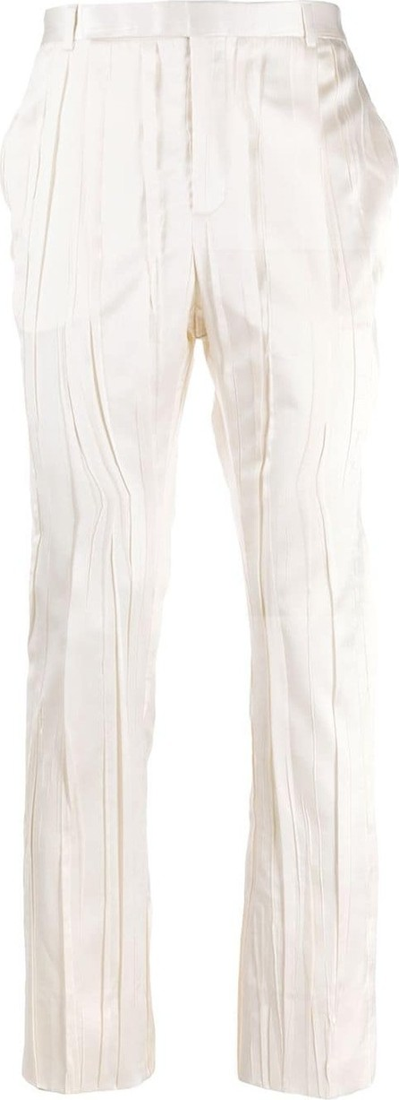 Saint Laurent Pleated mid-rise tailored trousers