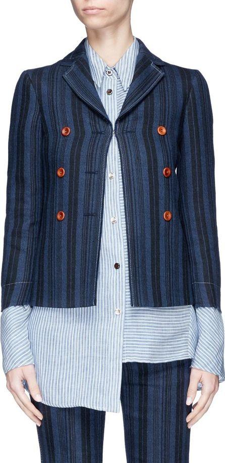 Acne Studios 'Jilva Rustic' stripe mock double breasted blazer