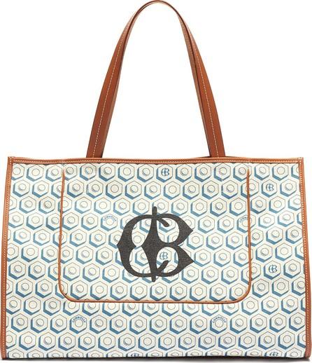 Connolly Logo geometric graphic print canvas beach bag
