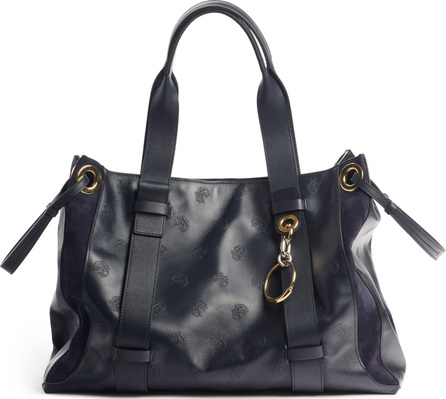 Chloe Medium Tao Embossed Leather Satchel