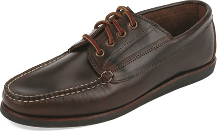 Eastland Made in Maine Falmouth USA Leather Lace-Up Moccasin, Dark Olive