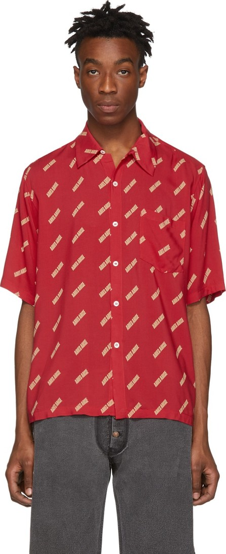 Aries Red Logo Bowling Shirt