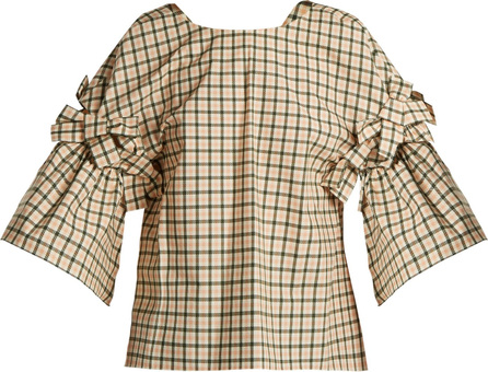 Fendi Bow-embellished check top