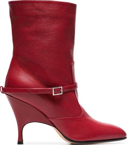 Alchimia Di Ballin Red Cuba 95 leather ankle boots