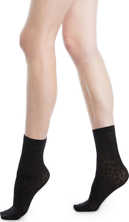 Wolford Avril Leopard Net Socks