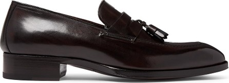 TOM FORD Elkan Leather Tasselled Penny Loafers