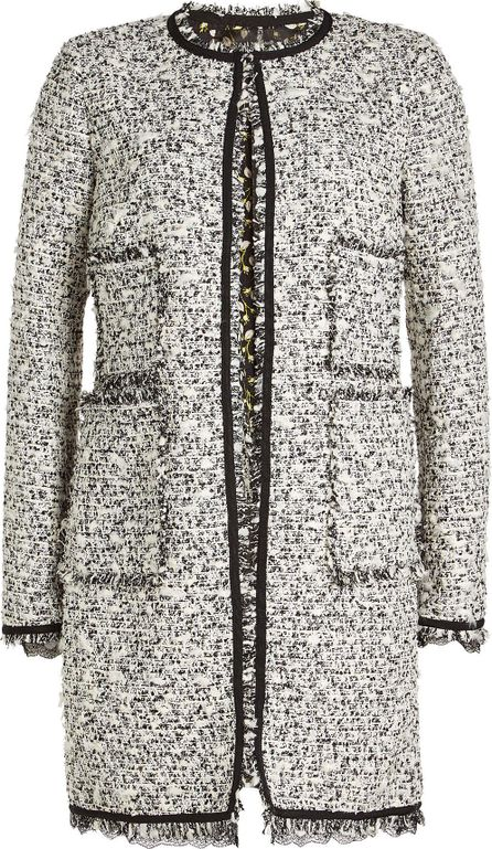 Giambattista Valli Tweed Coat with Cotton and Virgin Wool