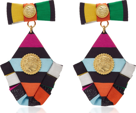 Caroline Constas Multicolored Diamond Ruffle Earrings