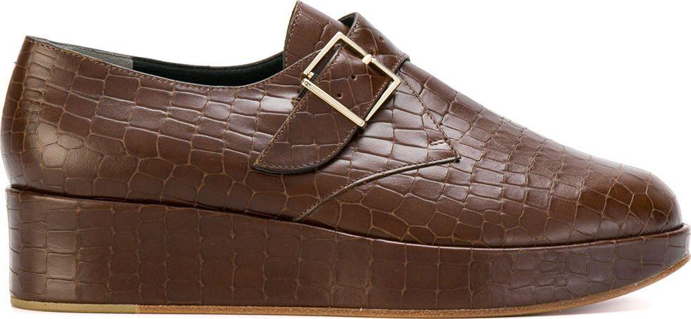 Robert Clergerie - monk strap platform loafers