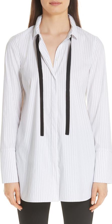 Lafayette 148 New York Annaleise Contrast Tie Stanford Stripe Blouse