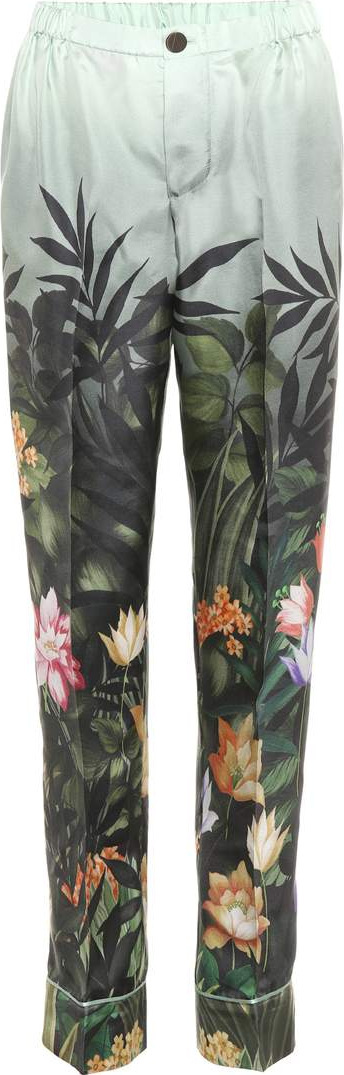 F.R.S For Restless Sleepers Ceo printed silk trousers