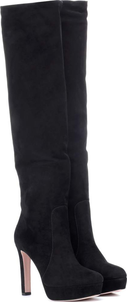 Prada Suede knee-high boots