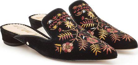 Sam Edelman Embroidered Velvet Mules