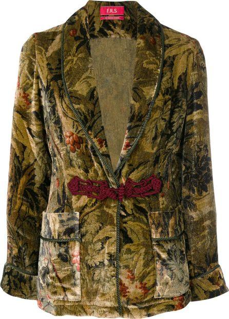 F.R.S For Restless Sleepers printed velvet jacket