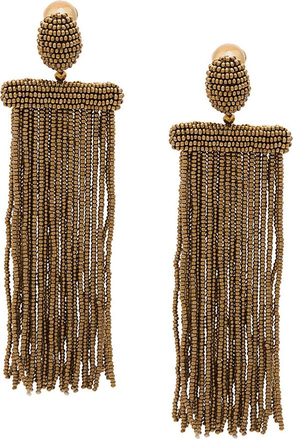 Oscar De La Renta - beaded earrings