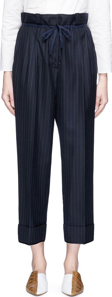 Acne Studios 'Tien' drawstring pinstripe suiting pants