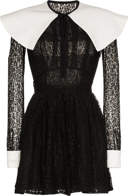 Alessandra Rich Mikado Lace Mini-Dress