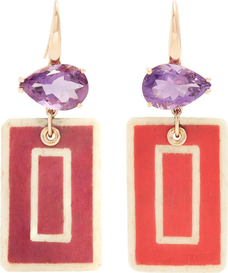 Francesca Villa Amethyst & yellow-gold Easy Living earrings