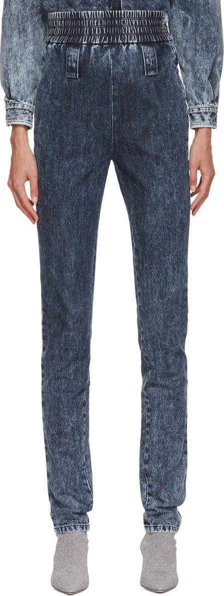 Miu Miu Blue Ruched Jeans