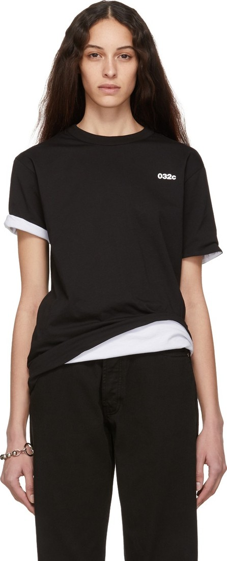 032c Reversible Black & White Cosmic Workshop Logo T-Shirt