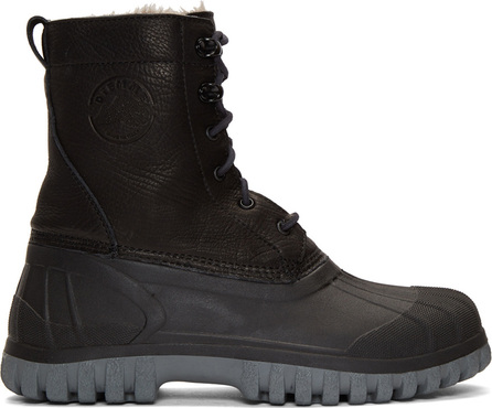 Diemme Black Antara Lace-Up Boots