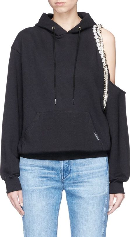 Forte Couture 'Cyndi' chain embellished cut-out shoulder hoodie