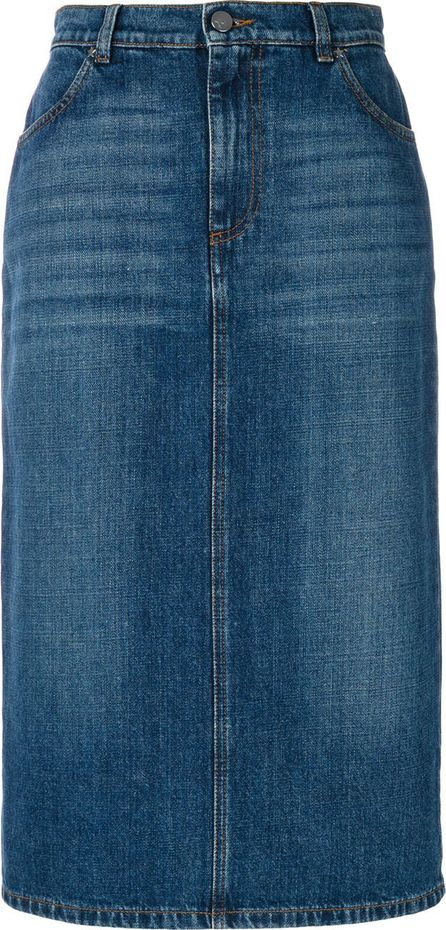 Alexa Chung denim pencil skirt