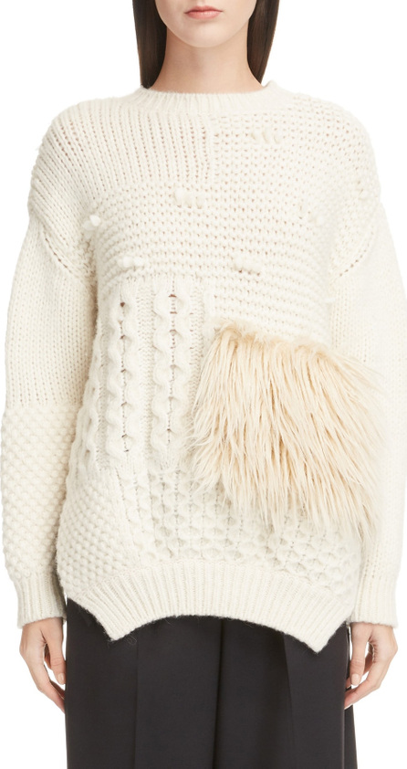 Simone Rocha Patchwork Alpaca Blend Sweater