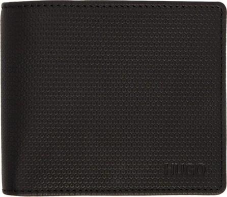 HUGO Black Bifold Wallet & Cardholder Set