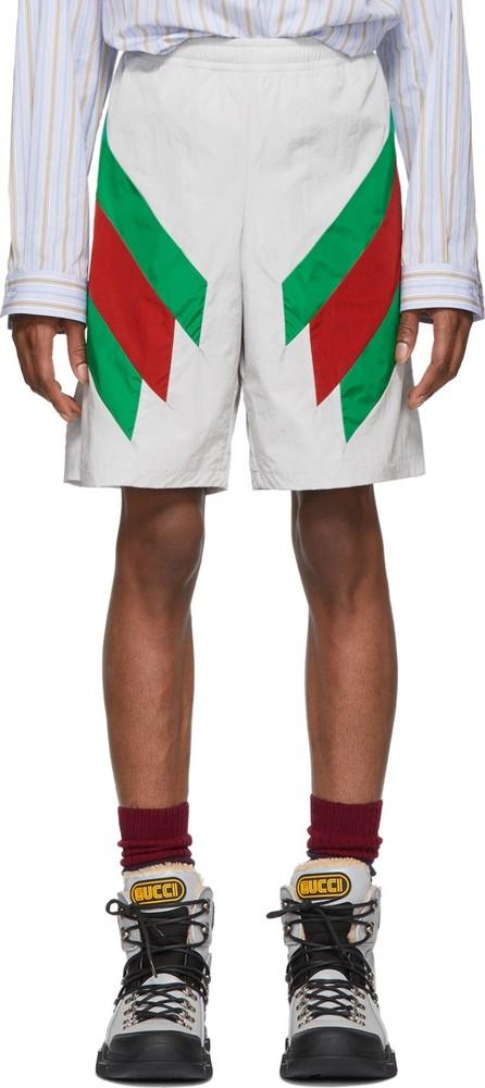 Gucci Off-White Intarsia Web Shorts