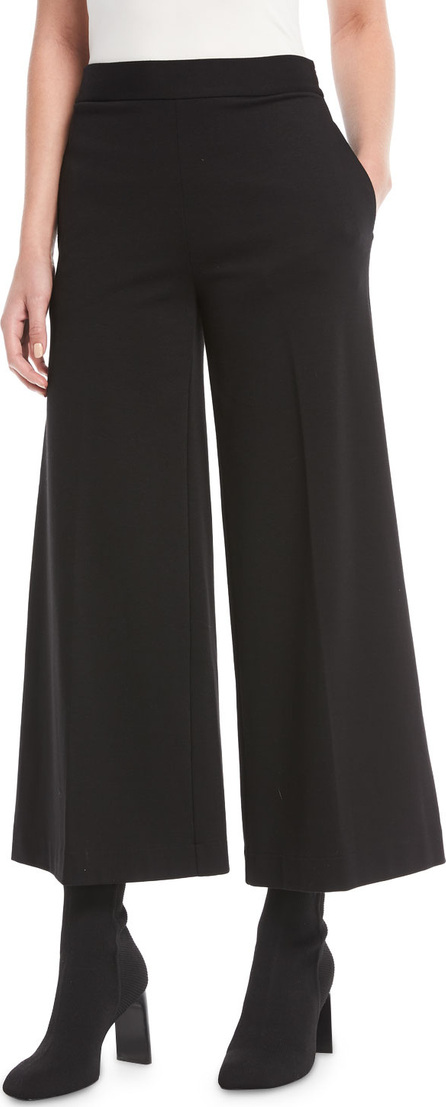 Fuzzi Interlock Solid Cropped Culotte Pants