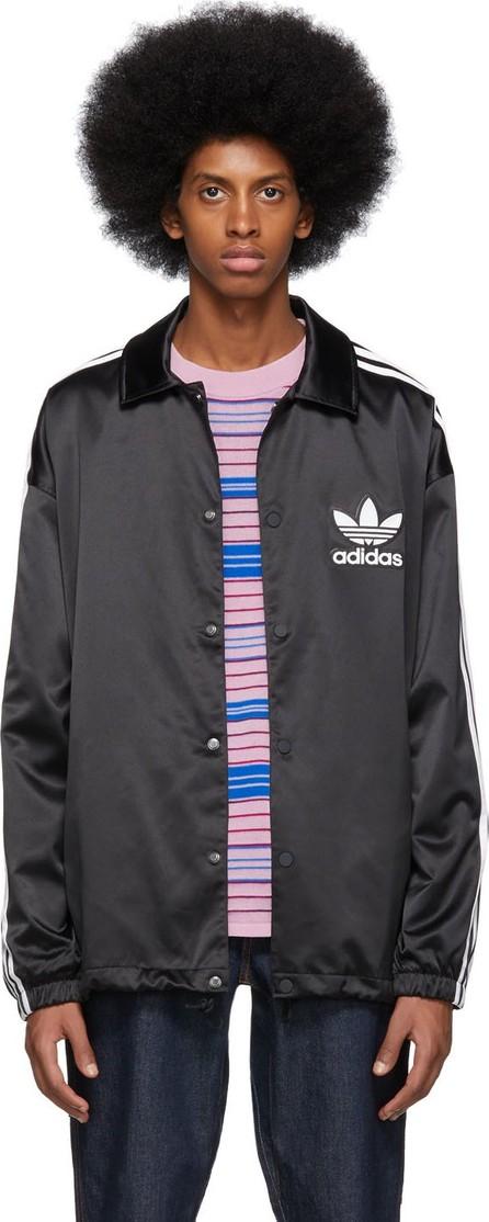 Adidas Originals Black Satin Coach Jacket