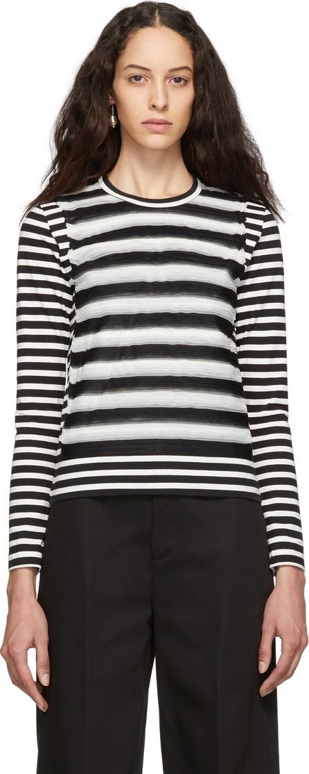 Noir Kei Ninomiya Black & White Striped Jersey Long Sleeve T-Shirt