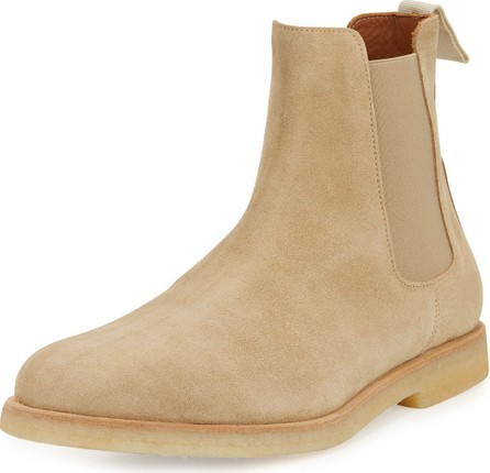 Common Projects Men's Calf Suede Chelsea Boot, Tan