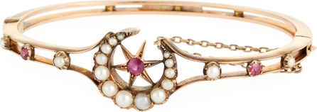 Turner & Tatler 15k Ruby & Pearl Celestial Bangle